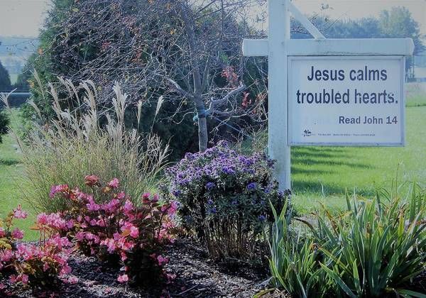 Photograph - Jesus Calms Troubled Hearts by Tina M Wenger