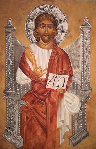 Scriptural Painting - Jesus Christ Teacher by Mary jane Miller