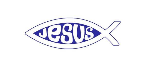 Digital Art - Jesus Fish by Thomas Olsen
