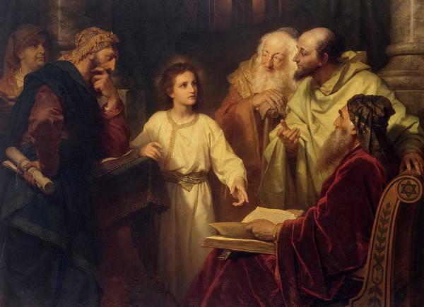 Wall Art - Painting - Jesus In The Temple, 1881 by Heinrich Hofmann