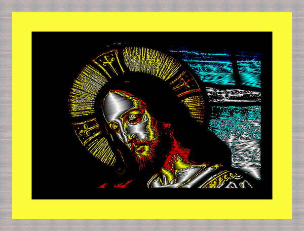 Digital Art - Jesus In Yellow by Mary Russell