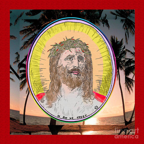 Painting - Jesus On Palms by Donna L Munro