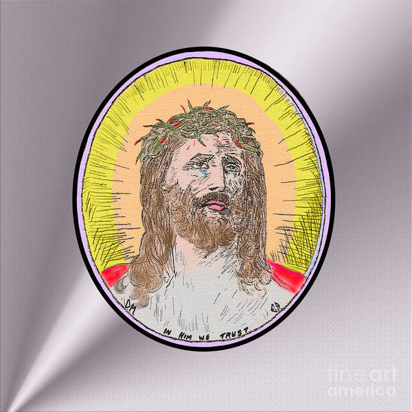 Painting - Jesus On Silver by Donna L Munro