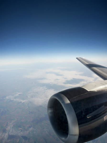 Public Land Photograph - Jet Engine Viewed Against A Skyscape by Anthony Bradshaw