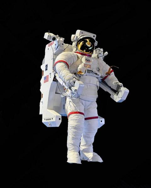 Photograph - Jet Pack - Spacewalk Suit, Kennedy Space Center by KJ Swan