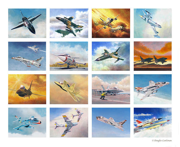 Painting - Jet Poster by Douglas Castleman