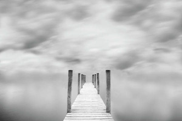 Jetty Photograph - Jetty Against Cloudy Sky by Doug Chinnery