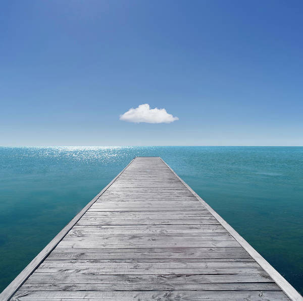 Jetty Photograph - Jetty Into The Horizon by Gregor Schuster