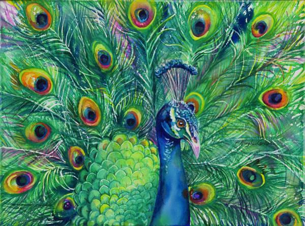 Jeweled Peacock Art Print