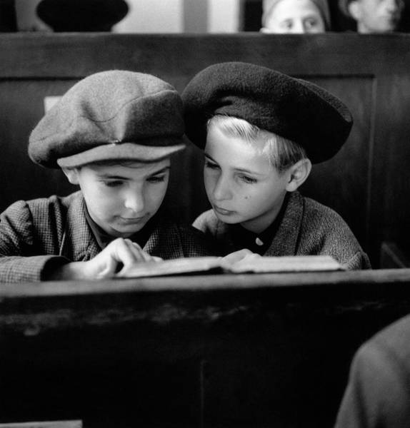 Concentration Photograph - Jewish Boys by Fred Ramage