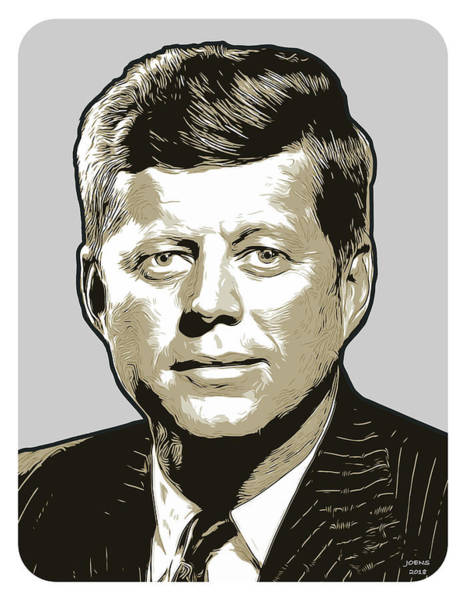Wall Art - Digital Art - JFK by Greg Joens