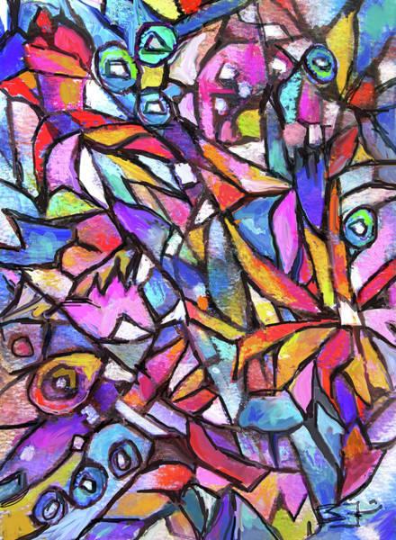 Painting - Jig Saw Garden by Jean Batzell Fitzgerald
