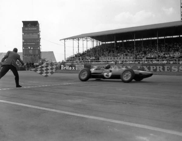 Photograph - Jim Clark Wins by Ted West