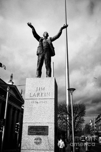 Wall Art - Photograph - Jim Larkin Statue On Oconnell Street Dublin Republic Of Ireland Europe by Joe Fox
