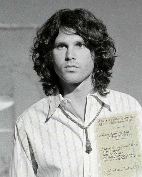 Wall Art - Photograph - Jim Morrison And Hand-written Poem by Daniel Hagerman
