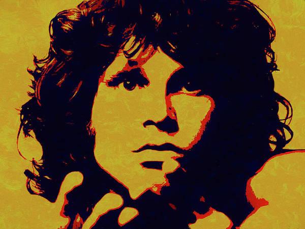 Wall Art - Painting - Jim Morrison Pop Art by Dan Sproul