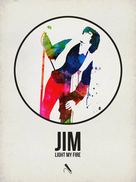 Wall Art - Digital Art - Jim Watercolor Poster by Naxart Studio