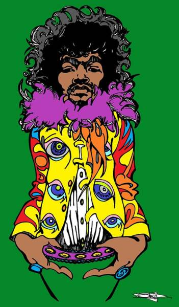 Fall Flowers Drawing - Jimi Green by SKIP Smith