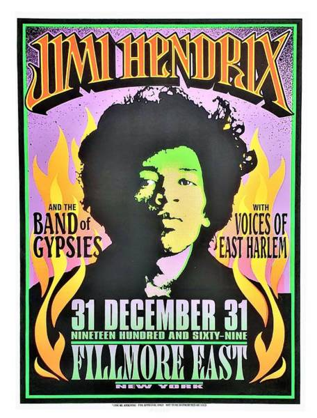 Photograph - Jimi Hendrix At The Fillmore East by Rob Hans
