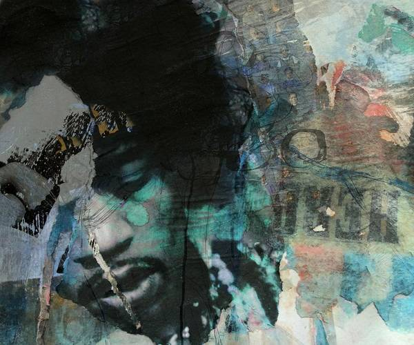 Wall Art - Mixed Media - Jimi Hendrix Collage by Paul Lovering
