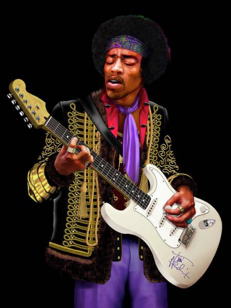 Painting - Jimi Hendrix by David Arrigoni