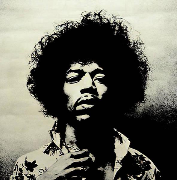 Wall Art - Digital Art - Jimi Hendrix Duotone by Daniel Hagerman