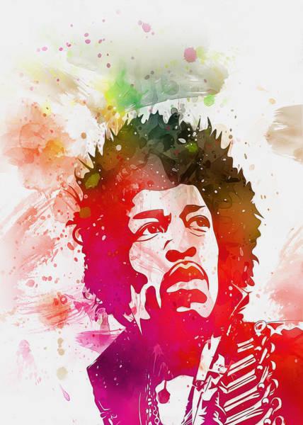Digital Art - Jimi Hendrix by Ian Mitchell