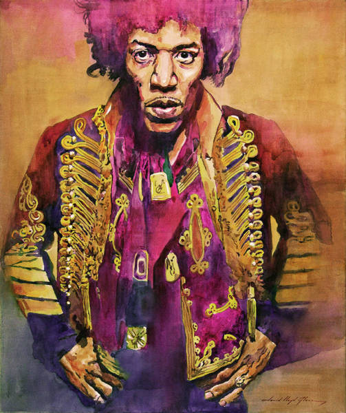 Painting - Jimi Hendrix In London by David Lloyd Glover
