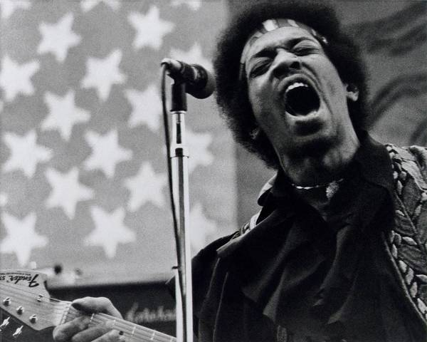 Jimi Hendrix Photograph - Jimi Hendrix Live by Larry Hulst