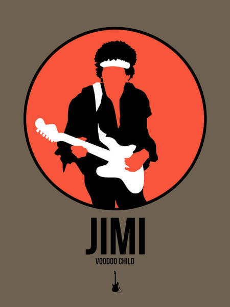 Wall Art - Digital Art - Jimi Hendrix by Naxart Studio