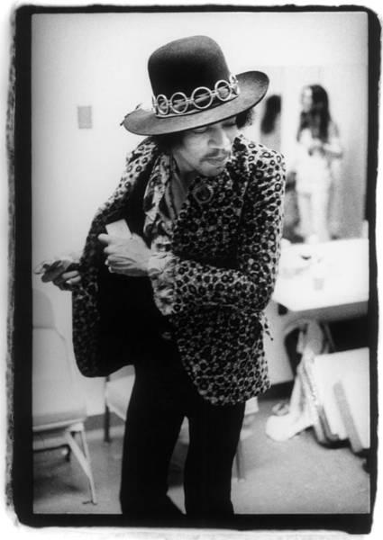 Guitarist Photograph - Jimi Hendrix Plays Anaheim by Ed Caraeff/morgan Media