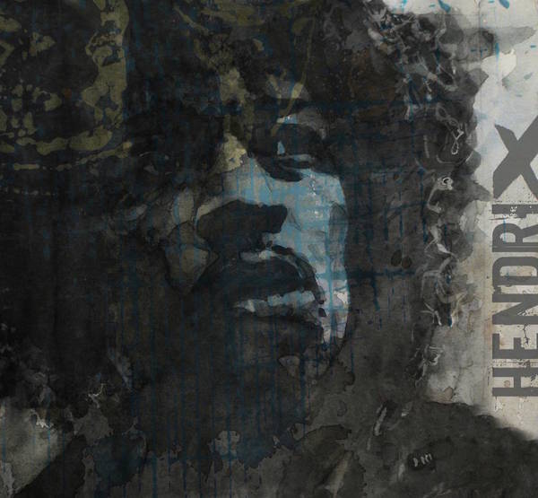 Wall Art - Mixed Media - Jimi Hendrix - Retro Series by Paul Lovering