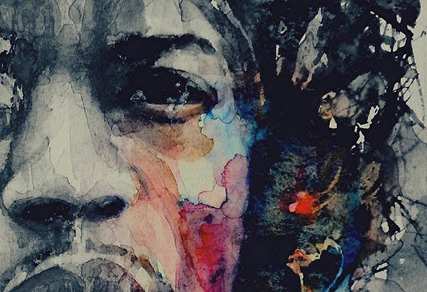 Hard Rock Wall Art - Painting - Jimi Hendrix - Somewhere A Queen Is Weeping Somewhere A King Has No Wife  by Paul Lovering