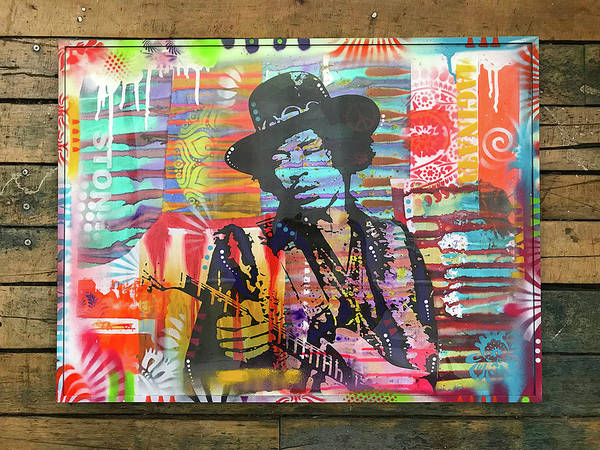 Painting - Jimi Hendrix Stone by Dean Russo Art