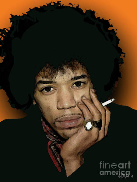 Digital Art - Jimi Hendrix 5 by Walter Neal