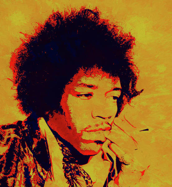 Painting - Jimi Pop Icon by Dan Sproul