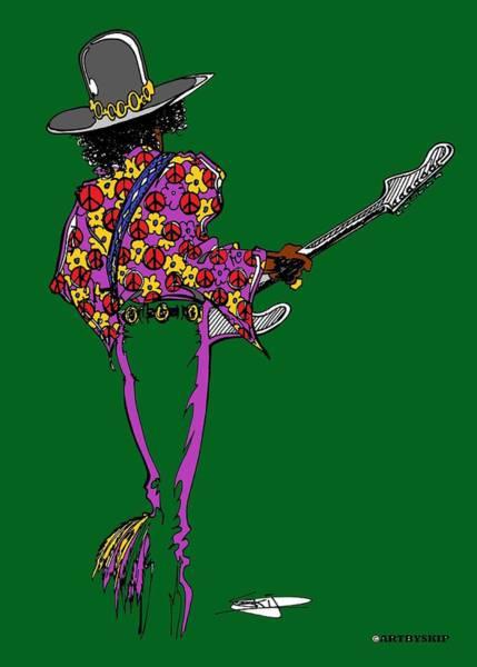 Fall Flowers Drawing - Jimi Wild Flower by SKIP Smith
