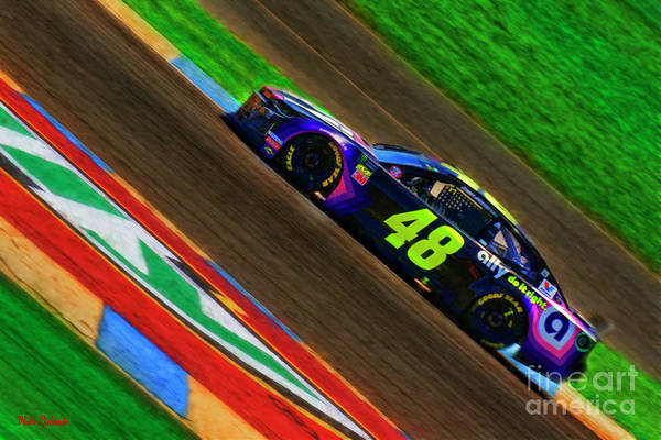Photograph - Jimmie Johnson  2019 Chevrolet by Blake Richards