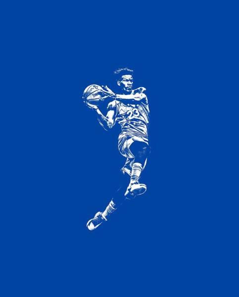 Wall Art - Mixed Media - Jimmy Butler Philadelphia 76ers T Shirt Apparel Pixel Art 1 by Joe Hamilton