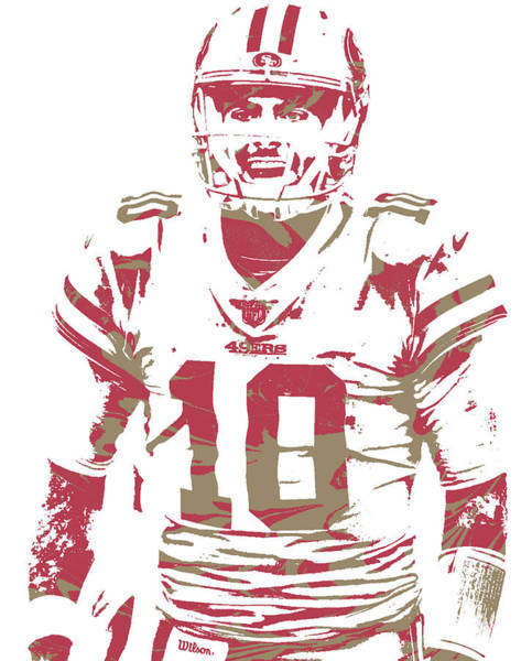 Wall Art - Mixed Media - Jimmy Garoppolo San Francisco 49ers Pixel Art 100 by Joe Hamilton