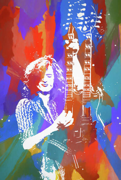 Wall Art - Painting - Jimmy Page Led Zeppelin by Dan Sproul