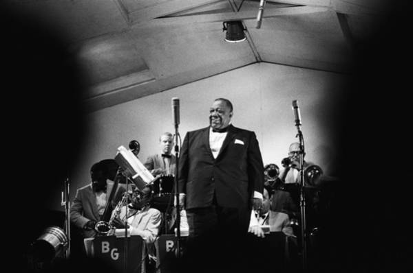 Singer Island Photograph - Jimmy Rushing Performs At The Newport by Michael Ochs Archives