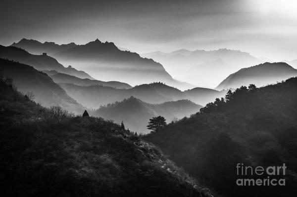 Wall Art - Photograph - Jinshanling Ridges by Inge Johnsson