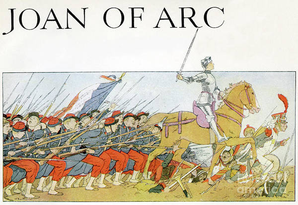 Wall Art - Drawing - Joan Of Arc Leading The French Army by Louis Maurice Boutet De Monvel