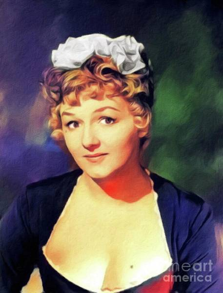 Wall Art - Painting - Joan Sims, Vintage Actress by John Springfield