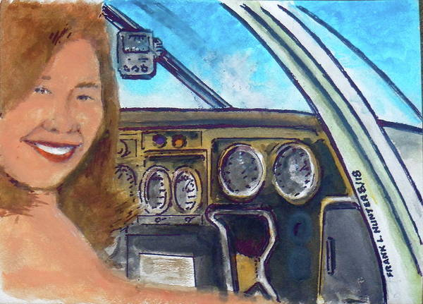 Painting - Joann With Our Piper Cherokee 10 Whisky by Frank Hunter