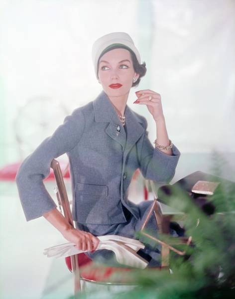Wall Art - Photograph - Joanna Mccormick In A Marquise Suit by Horst P. Horst