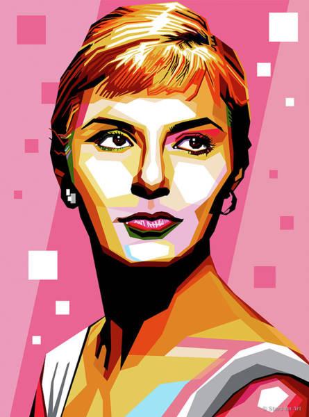 Pop Star Digital Art - Joanne Woodward by Stars-on- Art