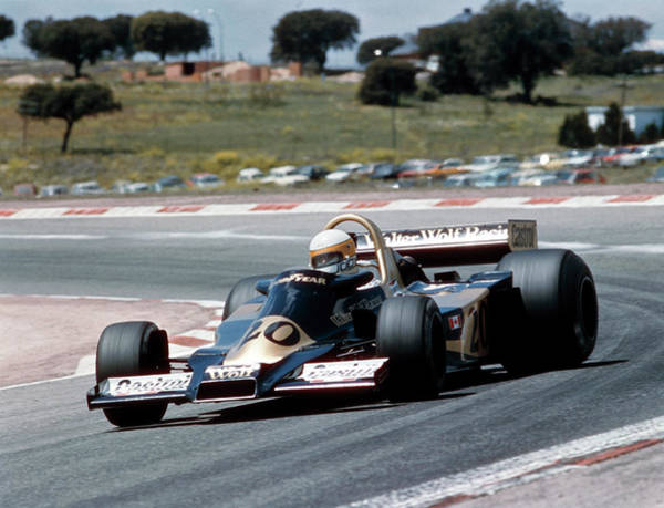 Motor Sport Photograph - Jody Scheckter Racing A Wolf-cosworth by Heritage Images