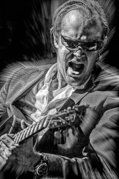 Wall Art - Mixed Media - Joe Bonamassa Blues by Mal Bray